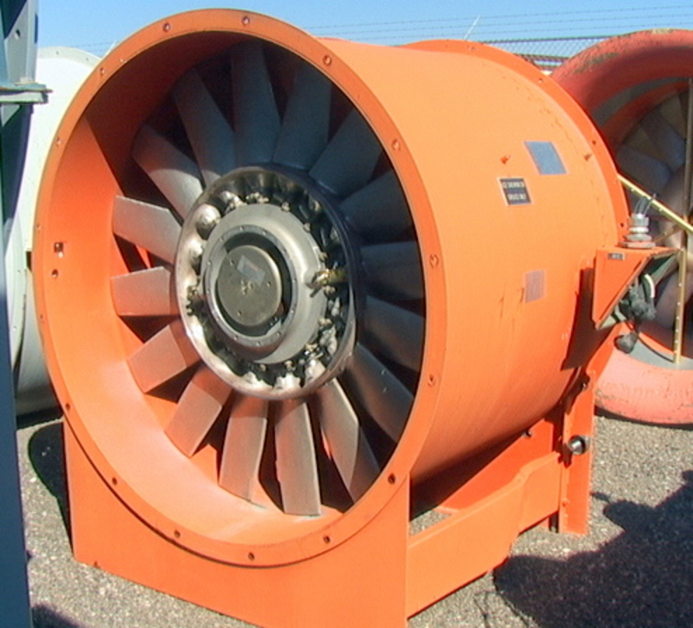 Axial Fans For Tunnels : Hp quot tube axial axivane fan cfm wc wind