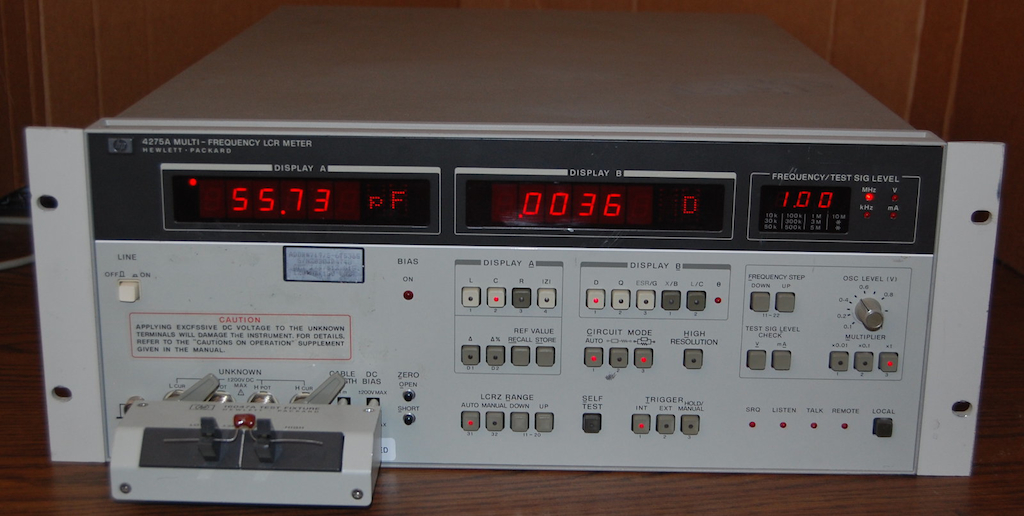 Hp Lcr Meter : Hp agilent a multi frequency lcr meter with