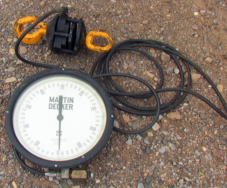 Marten Decker Load Indicator : Martin decker lb hydraulic crane scale m n sd