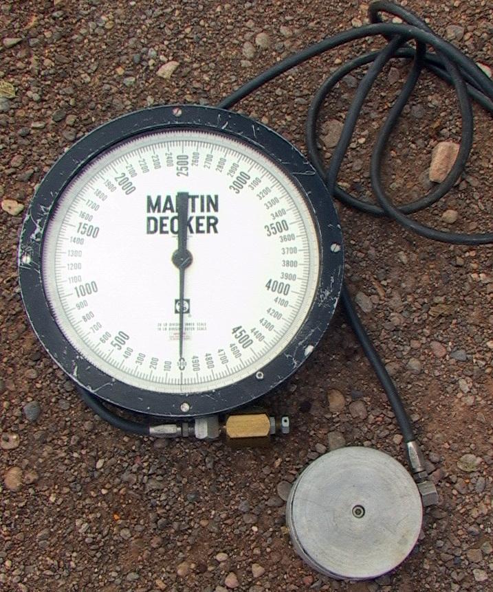 Marten Decker Load Indicator : Martin decker hydraulic diaphragm pad puck scale sw