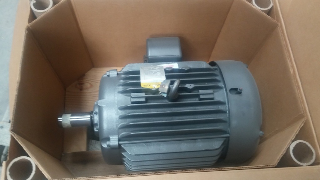 2 speed 1760 880 baldor m1761t 15 460vac totally for Totally enclosed fan cooled motor