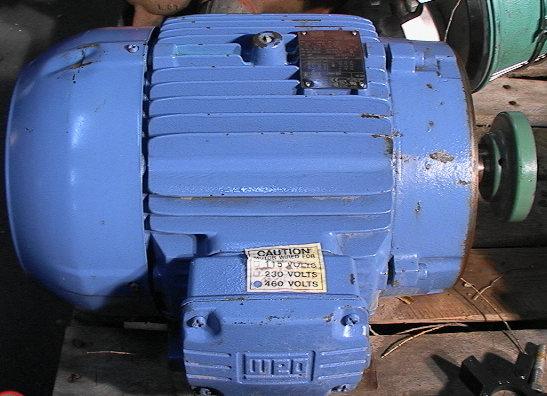 Weg w21 motor severe duty 1765 rpm tefc 213tc frame for Weg severe duty motor