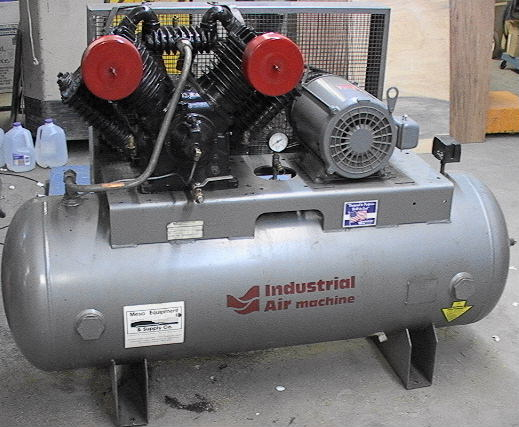 Industrial Air Machine Compressor 10 Horsepower 175 Psi